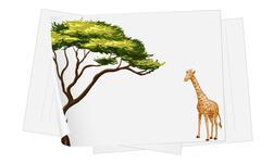 Stock Illustration of giraffe paper template