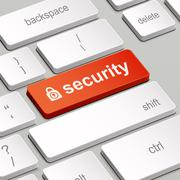 Security concept with computer keyboard Stock Illustration