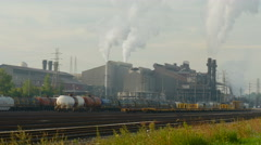 4K Arcelo Mittal Steel Mill 2 - stock footage