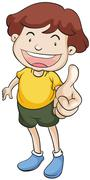 Stock Illustration of Boy with thumbs up