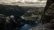 Stock Video Footage of 1080p, epic and dramatic time lapse of preikestolen in norway