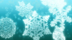Big Christmas snowflakes loop. Light blue version. Stock Footage