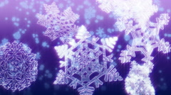 Big Christmas snowflakes loop. Purple version. - stock footage