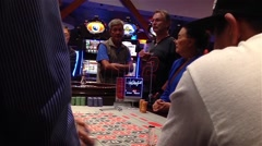 People playing roulette in casino Stock Footage