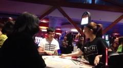 black jack casino - stock footage