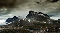 1080p, epic and dramatic time lapse of trollstigen area in norway Stock Footage