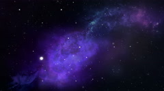 Stars Space Flyby, Nebula - 4K - stock footage