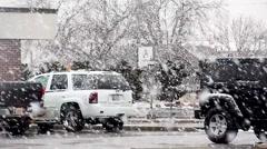 Big Snow Flakes, Oklahoma, United States 3 Stock Footage