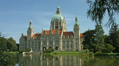 "Hannover town hall ""Neues Rathaus"" Stock Footage"