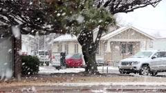 Big Snow Flakes, Oklahoma, United States 1 Stock Footage