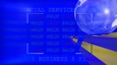 Stock market trading screen. Media background. Stock Footage