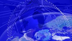 Wireless Network. Media background. Concept. Stock Footage