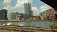 4K Scenic City Timelapse Of Pittsburgh, Pennsylvania, USA Skyline And River - stock footage
