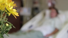 Medical - Hospital Patient - Flowers - stock footage