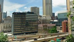 4K Scenic City Timelapse Of Pittsburgh, Pennsylvania, USA Skyline And Highway - stock footage