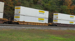 Norfolk Southern Freight Train at Horseshoe Curve 1 Stock Footage
