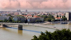 City of Novi Sad in Serbia, time lapse - stock footage