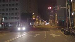 Jilin and East Nanjing intersection - Taipei street late night Stock Footage