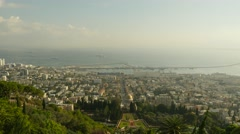 Haifa - Israel - Lower City / Sea View - 25P - UHD 4K Stock Footage