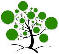tree clipart - stock illustration