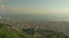 Haifa - Israel - Lower City / Sea View - 25P - UHD 4K - Flat Stock Footage