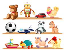 Stock Illustration of various toys