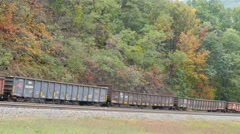 4K Norfolk Southern Freight Train at Horseshoe Curve 5 Stock Footage