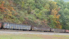 Norfolk Southern Freight Train at Horseshoe Curve 5 Stock Footage