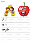Stock Illustration of Alphabet worksheet