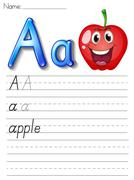 Stock Illustration of Alphabet handwriting series