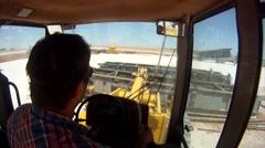 Drilling Rig Setup Forklift Working POV 4 Stock Footage
