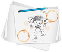 stationary items - stock illustration