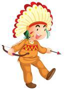 Stock Illustration of Cultural kid