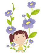 Stock Illustration of flower seing