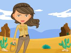 Cowgirl - stock illustration
