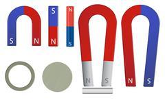 magnet set - stock illustration