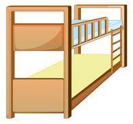bunk bed - stock illustration