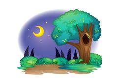 Stock Illustration of Tree with hollow