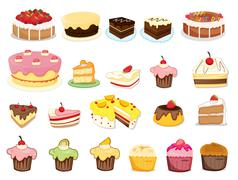 Cake collection - stock illustration