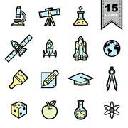 Science icons set Stock Illustration