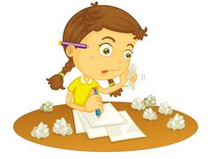 Writing Stock Illustration