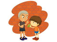 Bully - stock illustration
