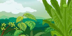 Lush plant life Stock Illustration