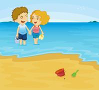 Romantic couple Piirros