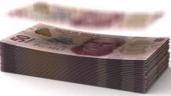 Money Fall Mexican Pesos Stock Footage