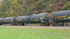 Norfolk Southern Freight Train at Horseshoe Curve 8 Stock Footage