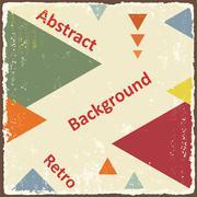 avant-garde retro triangle background. vector - stock illustration
