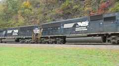 Norfolk Southern Freight Train at Horseshoe Curve 9 Stock Footage