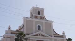 Puerto Rico - old town Catholic church Stock Footage