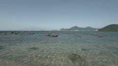 Near little waves, non color graded Full HD (1920x1080) Stock Footage